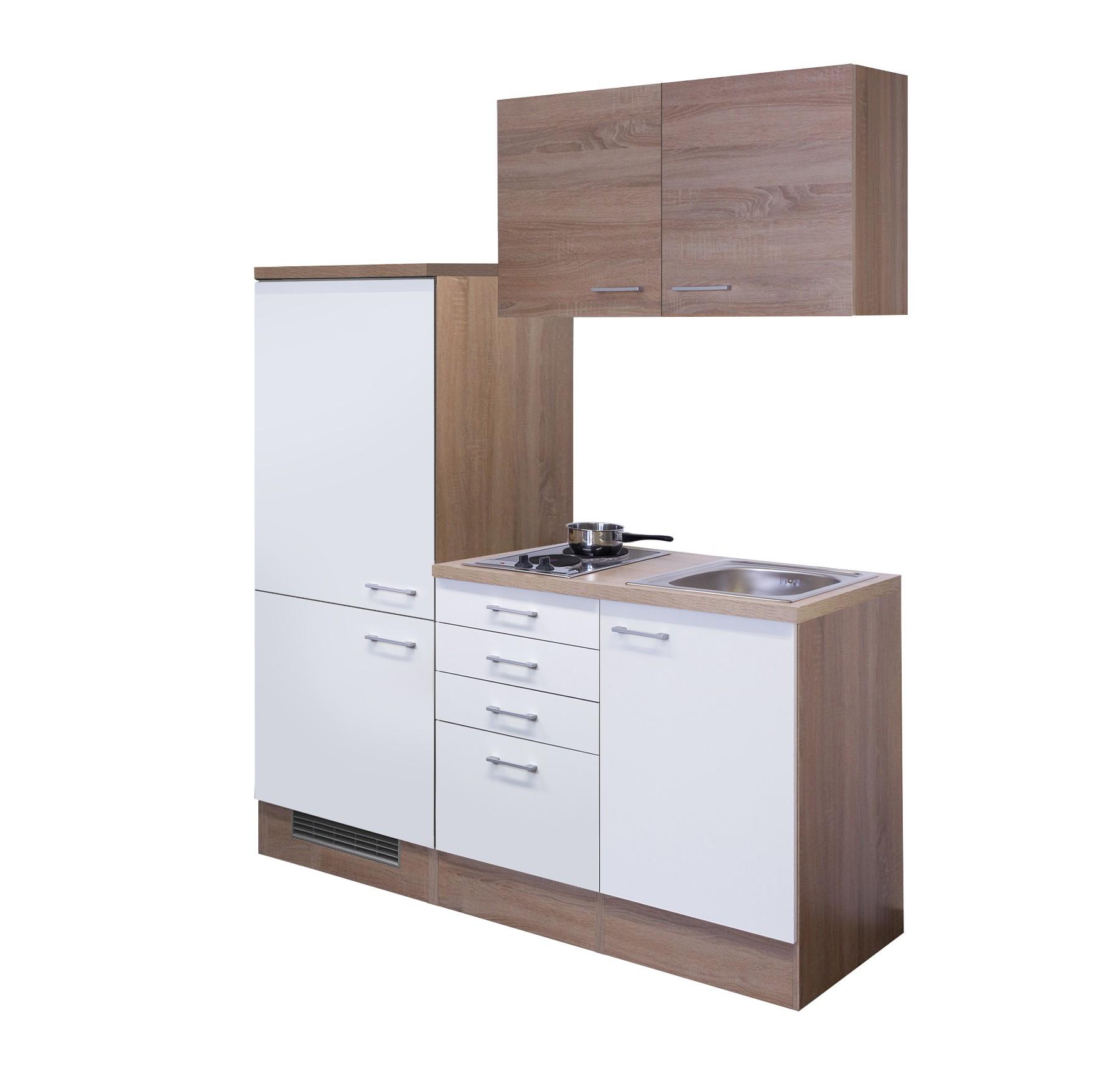 singlek che rom breite 160 cm wei k che singlek chen. Black Bedroom Furniture Sets. Home Design Ideas