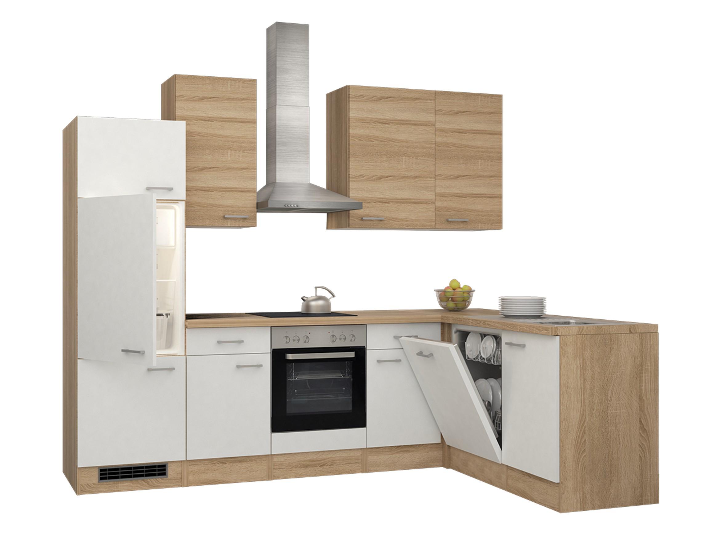 eckk che rom k che mit e ger ten breite 280 x 170 cm wei k che k chenzeilen. Black Bedroom Furniture Sets. Home Design Ideas
