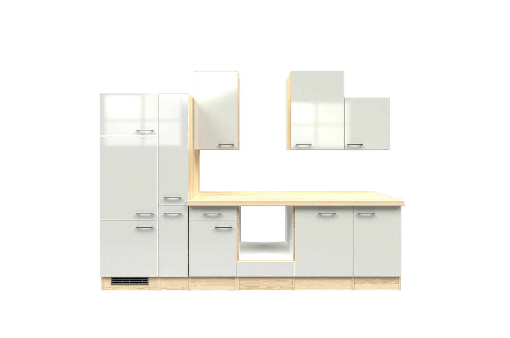 k chenzeile florenz k chen leerblock breite 310 cm perlmutt wei k che k chenzeilen. Black Bedroom Furniture Sets. Home Design Ideas