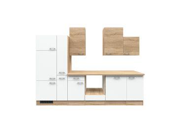Küchenzeile ROM - Küchen-Leerblock - Breite 310 cm - Weiß