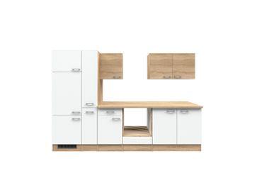 Küchenzeile ROM - Küchen-Leerblock - Breite 300 cm - Weiß