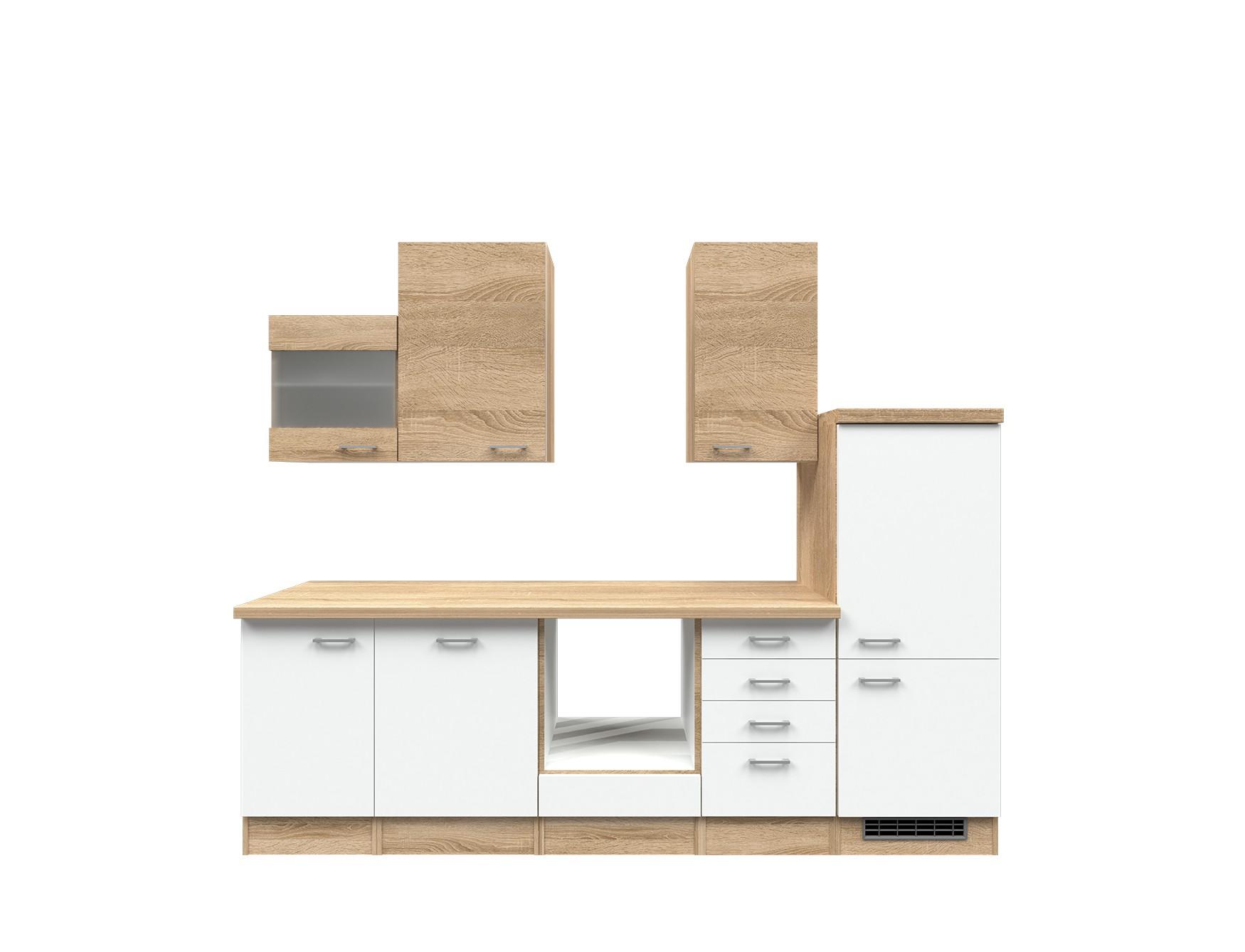 Kuchenzeile rom kuchen leerblock mit midi umbauschrank for Küchenzeile 280 cm mit elektroger ten