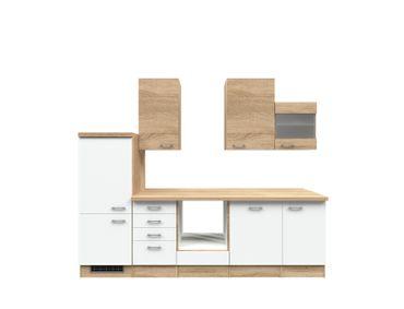 Küchenzeile ROM - Küchen-Leerblock mit Midi-Umbauschrank - Breite 280 cm - Weiß