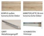 Küchenzeile STOCKHOLM - Küchen-Leerblock - 8-teilig - Breite 270 cm - Hochglanz Weiß