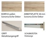 Küchenzeile STOCKHOLM - Küchen-Leerblock - 9-teilig - Breite 300 cm - Hochglanz Taupe