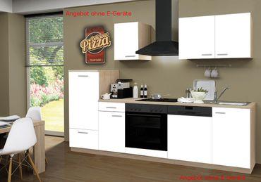 Küchenzeile GÖTEBORG - Küchen-Leerblock - 9-teilig - Breite 270 cm - Weiß