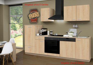 Küchenzeile GÖTEBORG - Küchen-Leerblock - 9-teilig - Breite 270 cm - Eiche Sonoma