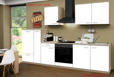 Küchenzeile GÖTEBORG - Küchen-Leerblock - 9-teilig - Breite 300 cm - Weiß