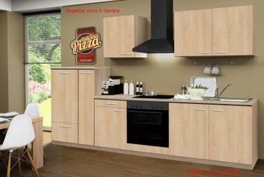 Küchenzeile GÖTEBORG - Küchen-Leerblock - 9-teilig - Breite 300 cm - Eiche Sonoma