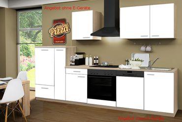 Küchenzeile GÖTEBORG - Küchen-Leerblock - Breite 310 cm - Weiß