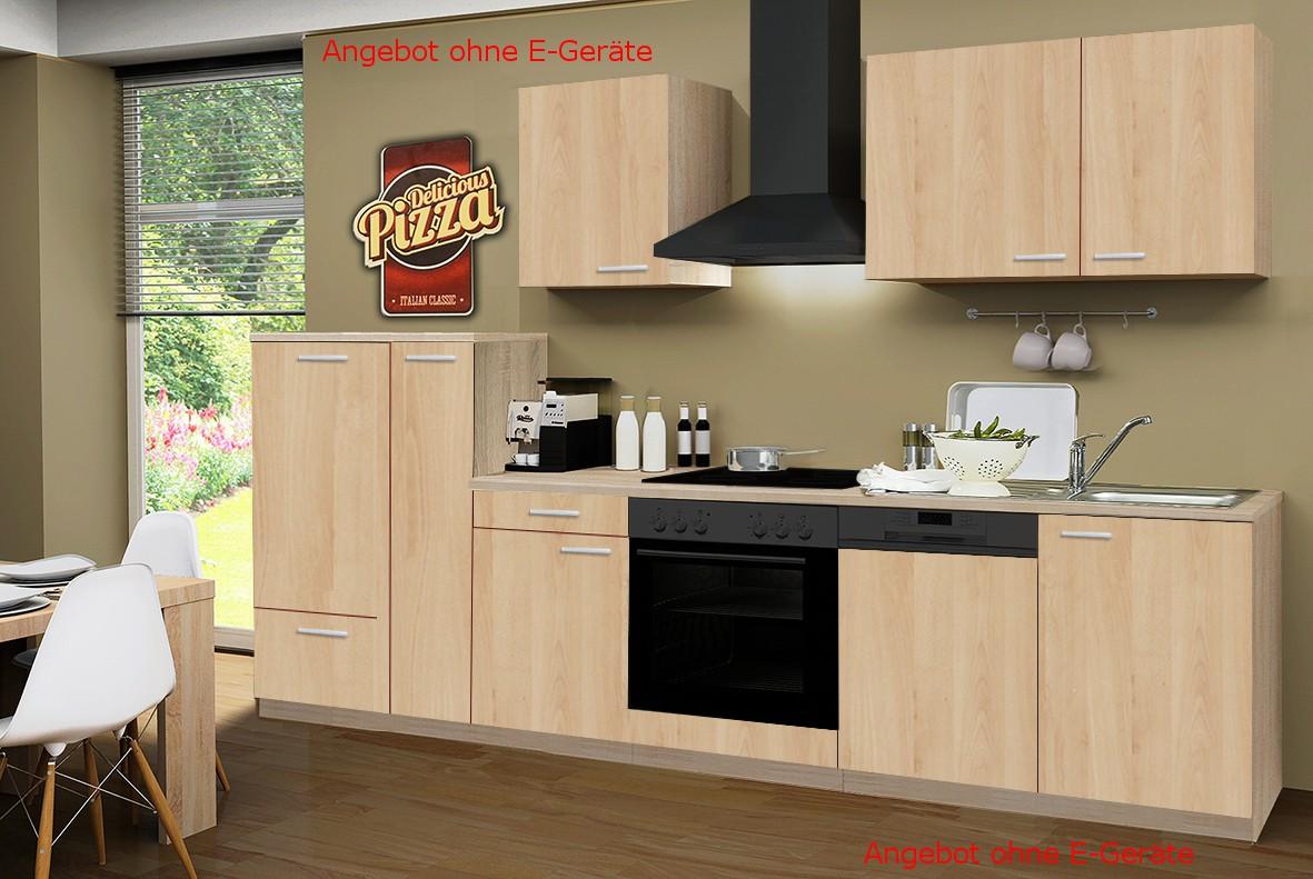 k chenzeile g teborg k chen leerblock breite 310 cm eiche sonoma k che k chenzeilen. Black Bedroom Furniture Sets. Home Design Ideas