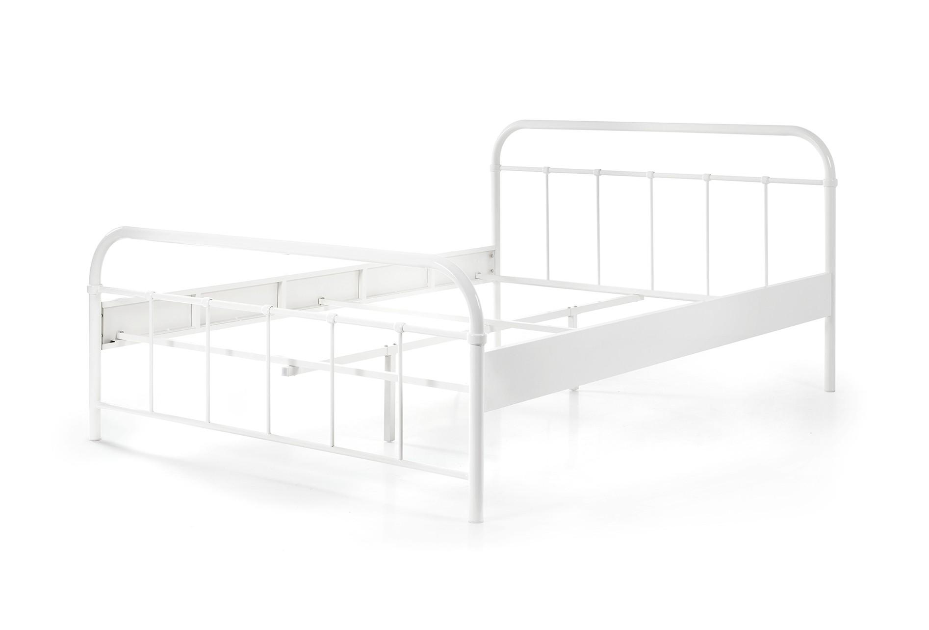 metallbett boston liegefl che 140 x 200 cm wei kinder jugendzimmer betten. Black Bedroom Furniture Sets. Home Design Ideas