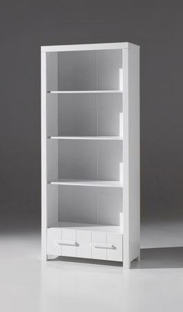 Regal ERIK - 1 Schublade, 4 Fächer - Weiß
