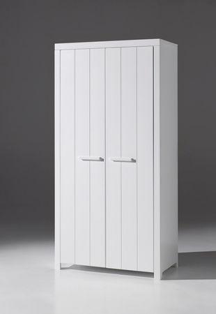 Kleiderschrank ERIK - 2-türig - Weiß