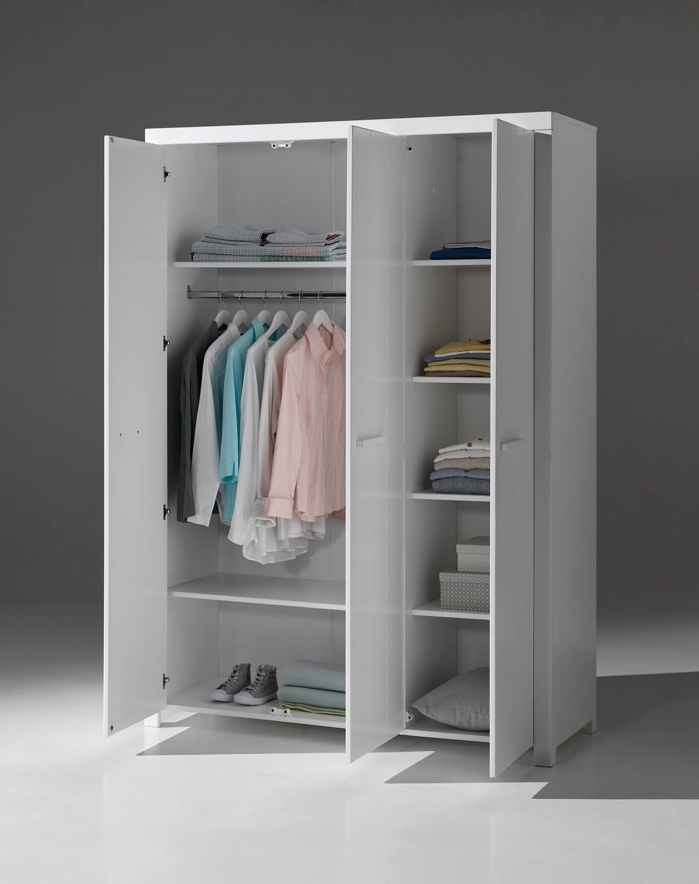 kleiderschrank erik 3 t rig wei kinder jugendzimmer kleiderschr nke. Black Bedroom Furniture Sets. Home Design Ideas
