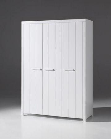 Kleiderschrank ERIK - 3-türig - Weiß