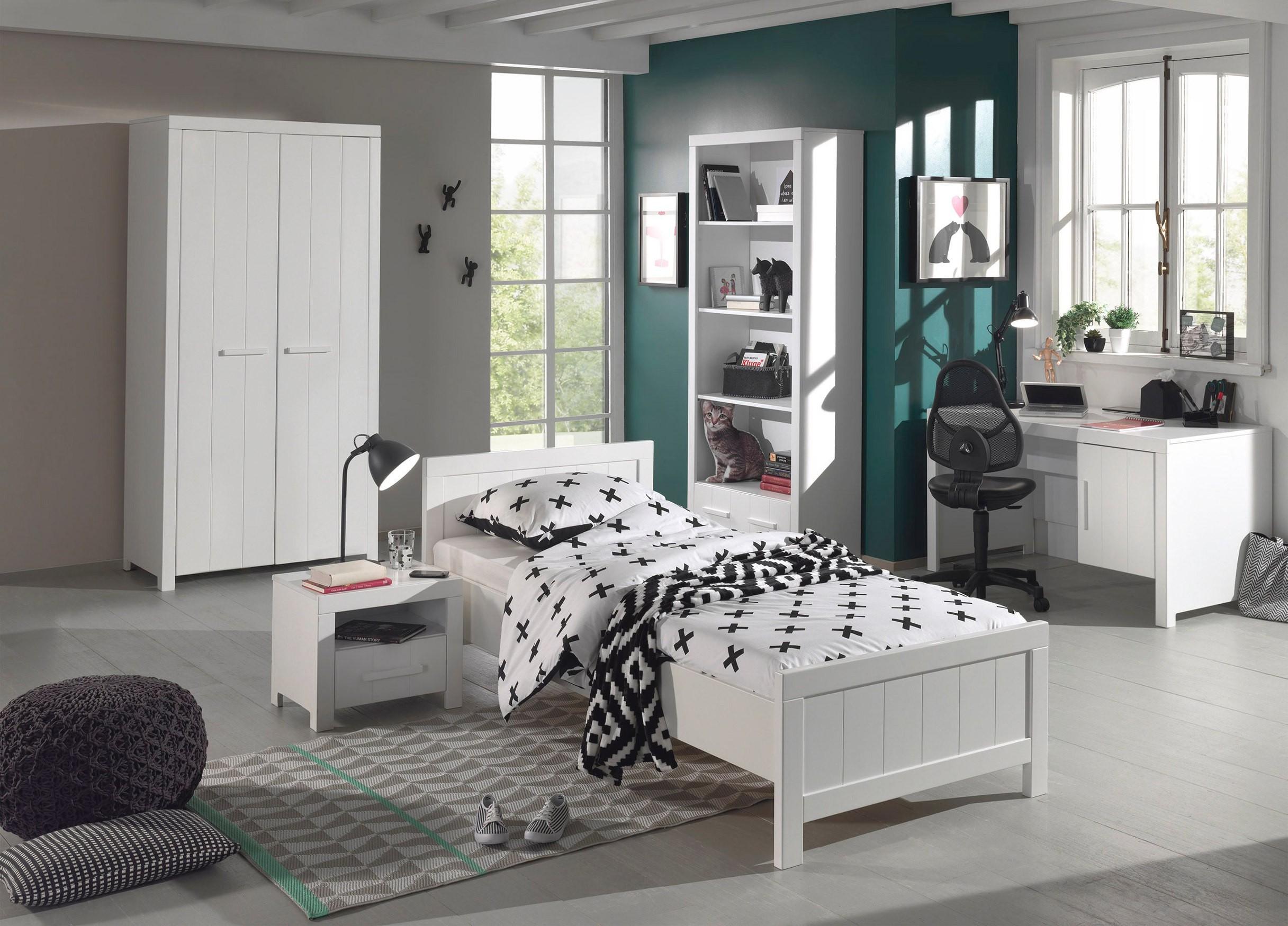 Jugendzimmer ERIK - komplett mit Einzelbett, Kleiderschrank 2-türig ...