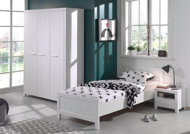 Jugendzimmer ERIK - komplett mit Einzelbett, Kleiderschrank 3-türig und Nachtkonsole
