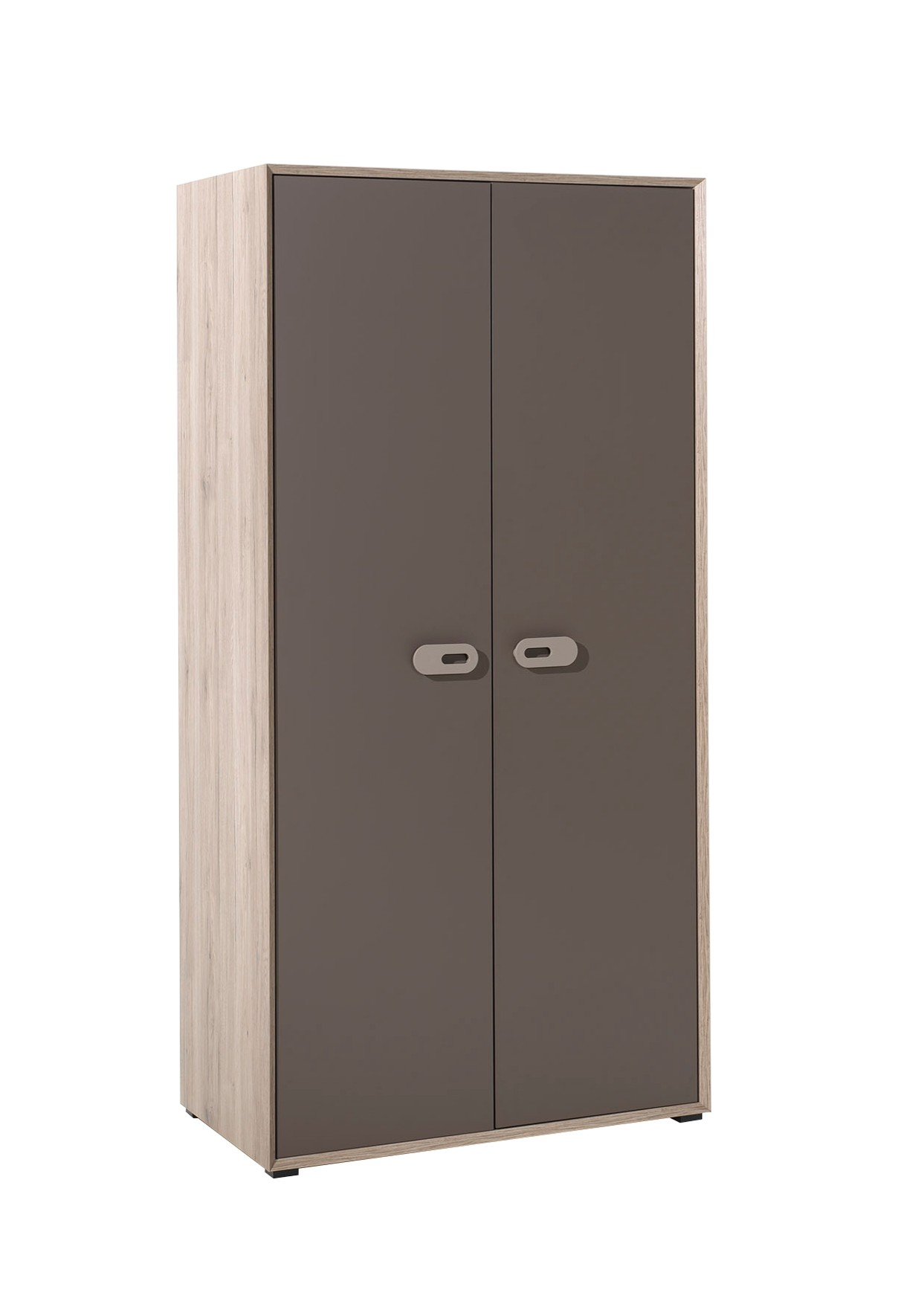 kleiderschrank emiel 2 t rig eiche san remo braun kinder kleiderschr nke. Black Bedroom Furniture Sets. Home Design Ideas
