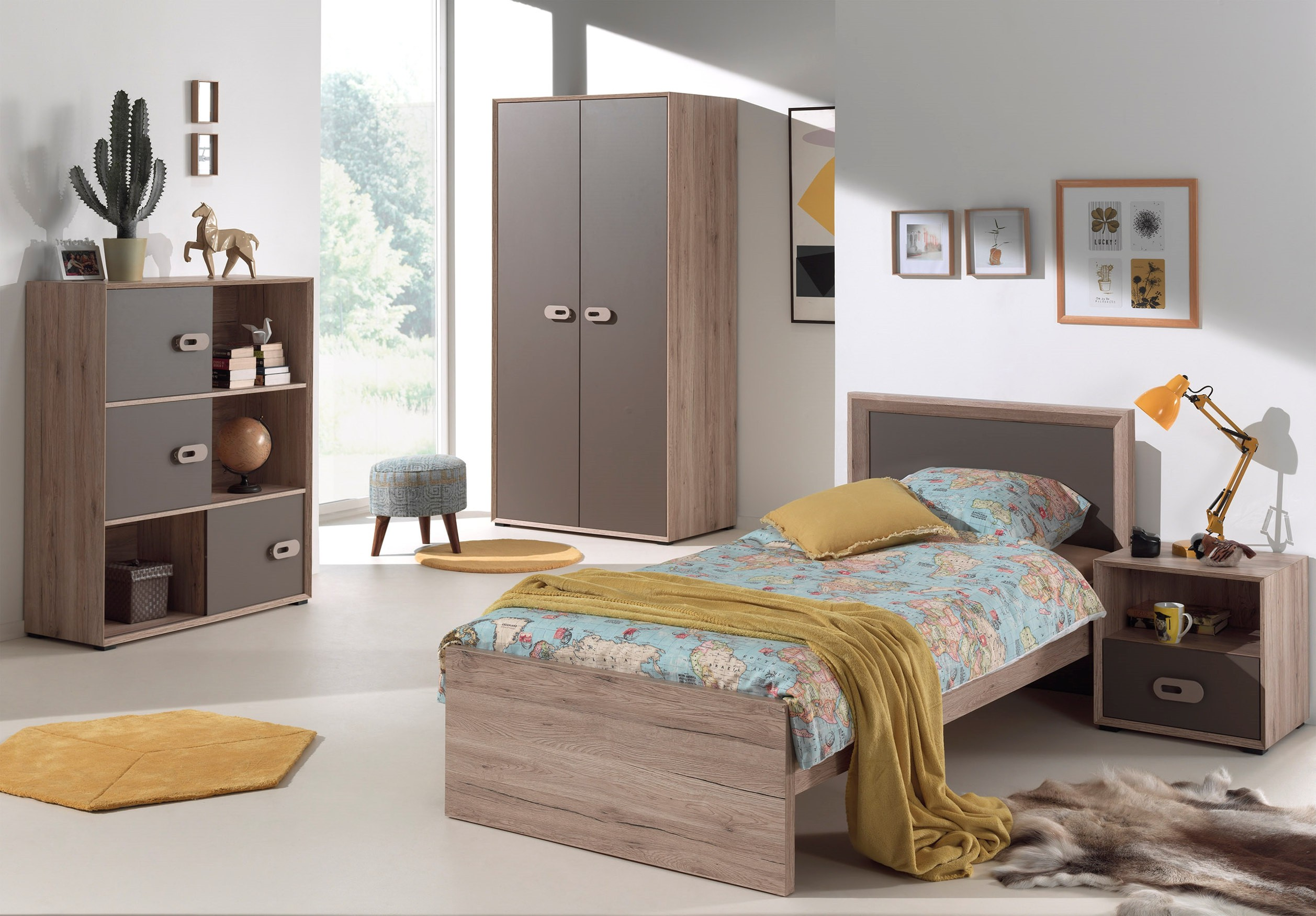 kleiderschrank emiel 2 t rig eiche san remo braun. Black Bedroom Furniture Sets. Home Design Ideas