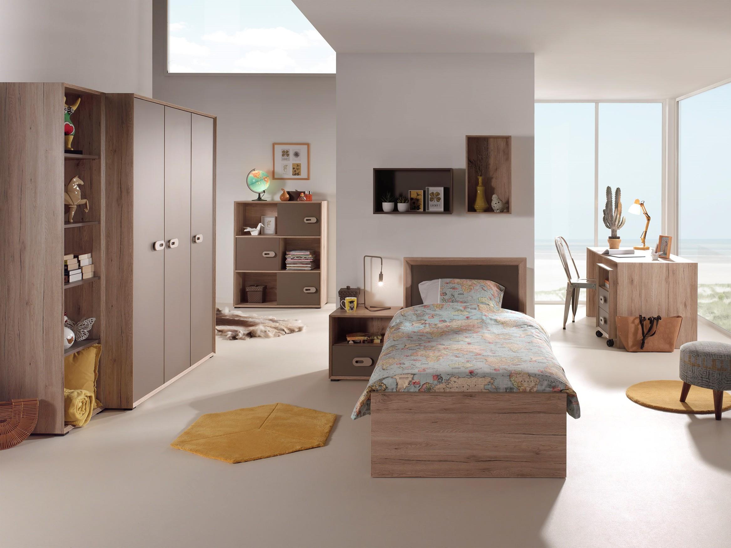 regal emma 3 schiebet ren eiche san remo braun. Black Bedroom Furniture Sets. Home Design Ideas