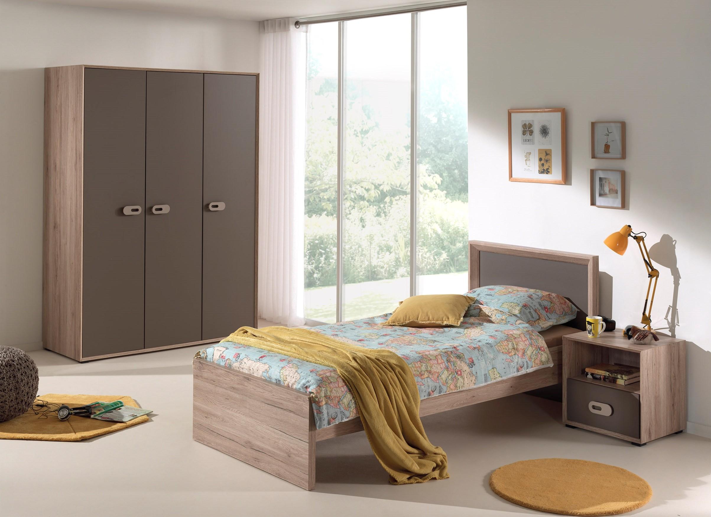 Jugendzimmer emma 3 teilig mit kleiderschrank 3 t rig for Hochwertige jugendzimmer