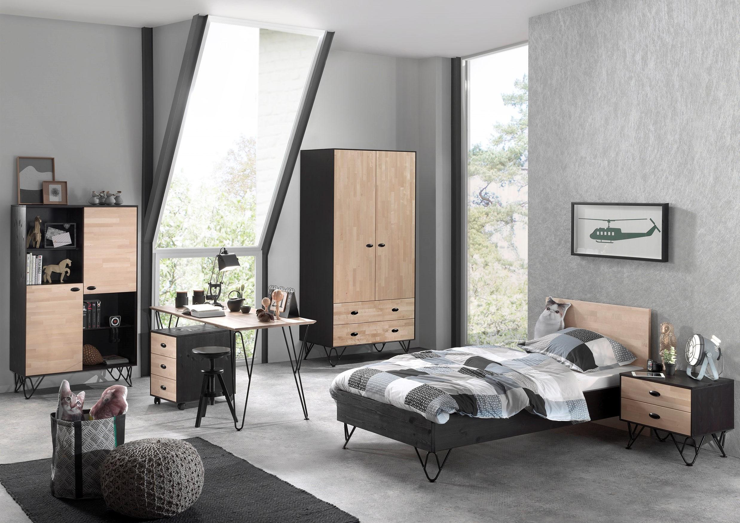 regal william 4 f cher und 2 t ren birke natur. Black Bedroom Furniture Sets. Home Design Ideas