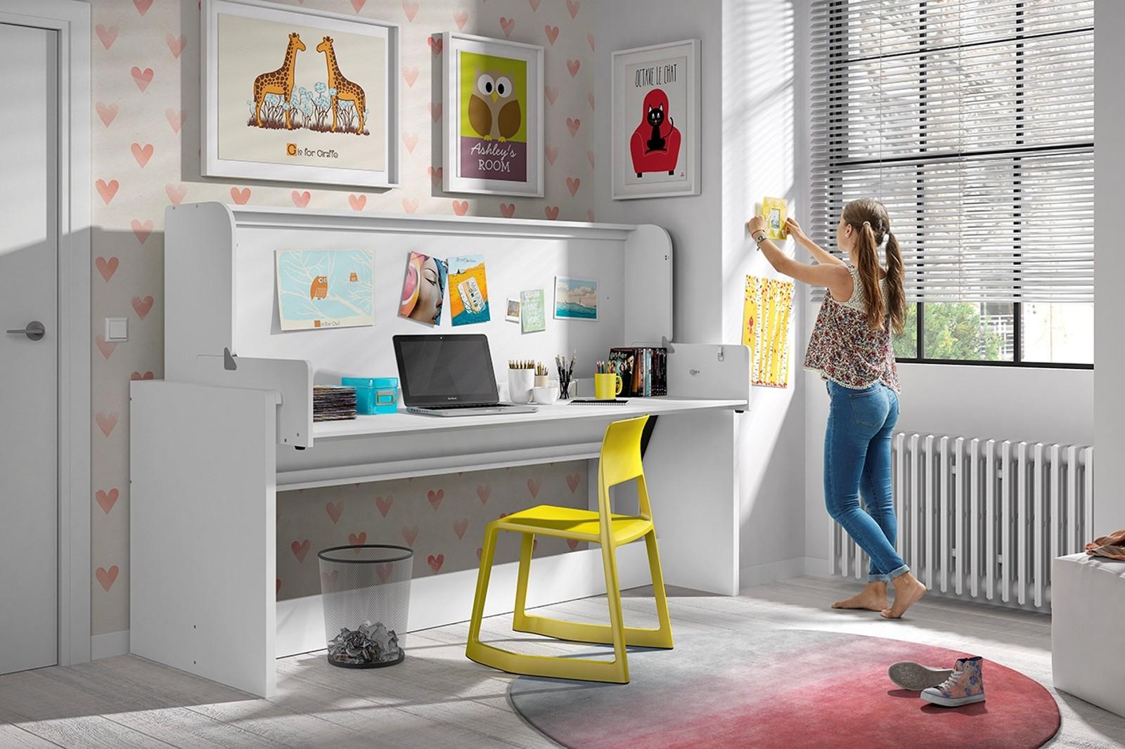 funktionsbett denver mit einzelbett und schreibtisch. Black Bedroom Furniture Sets. Home Design Ideas