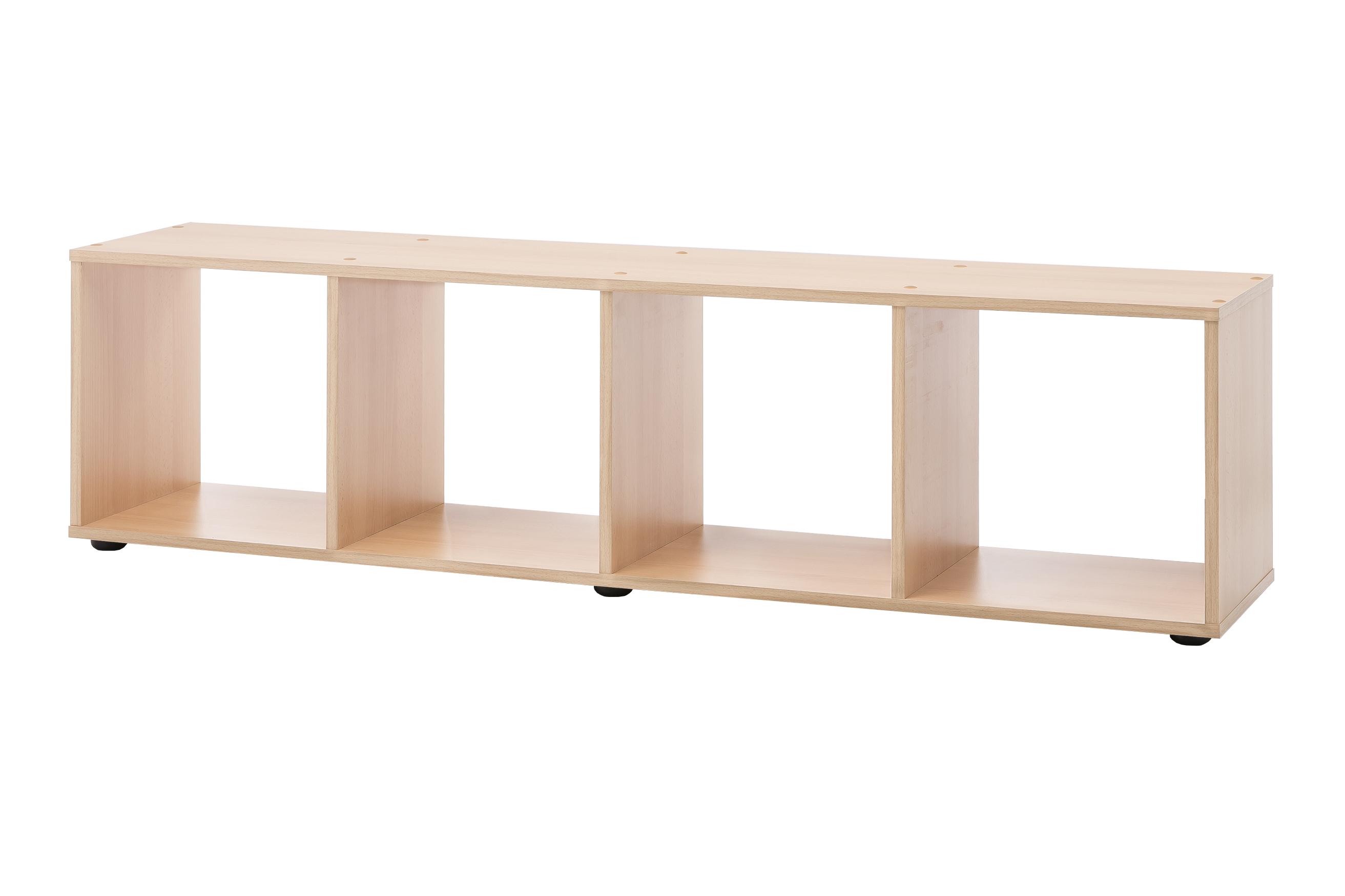 regal maik tv lowboard 4 f cher buche wohnen regale. Black Bedroom Furniture Sets. Home Design Ideas