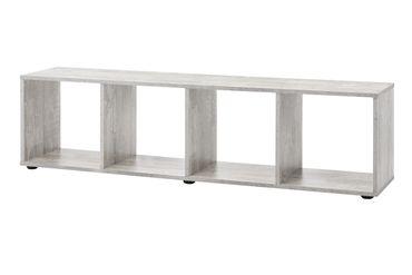 Regal MAIK - TV-Lowboard - 4 Fächer - Beton-Grau