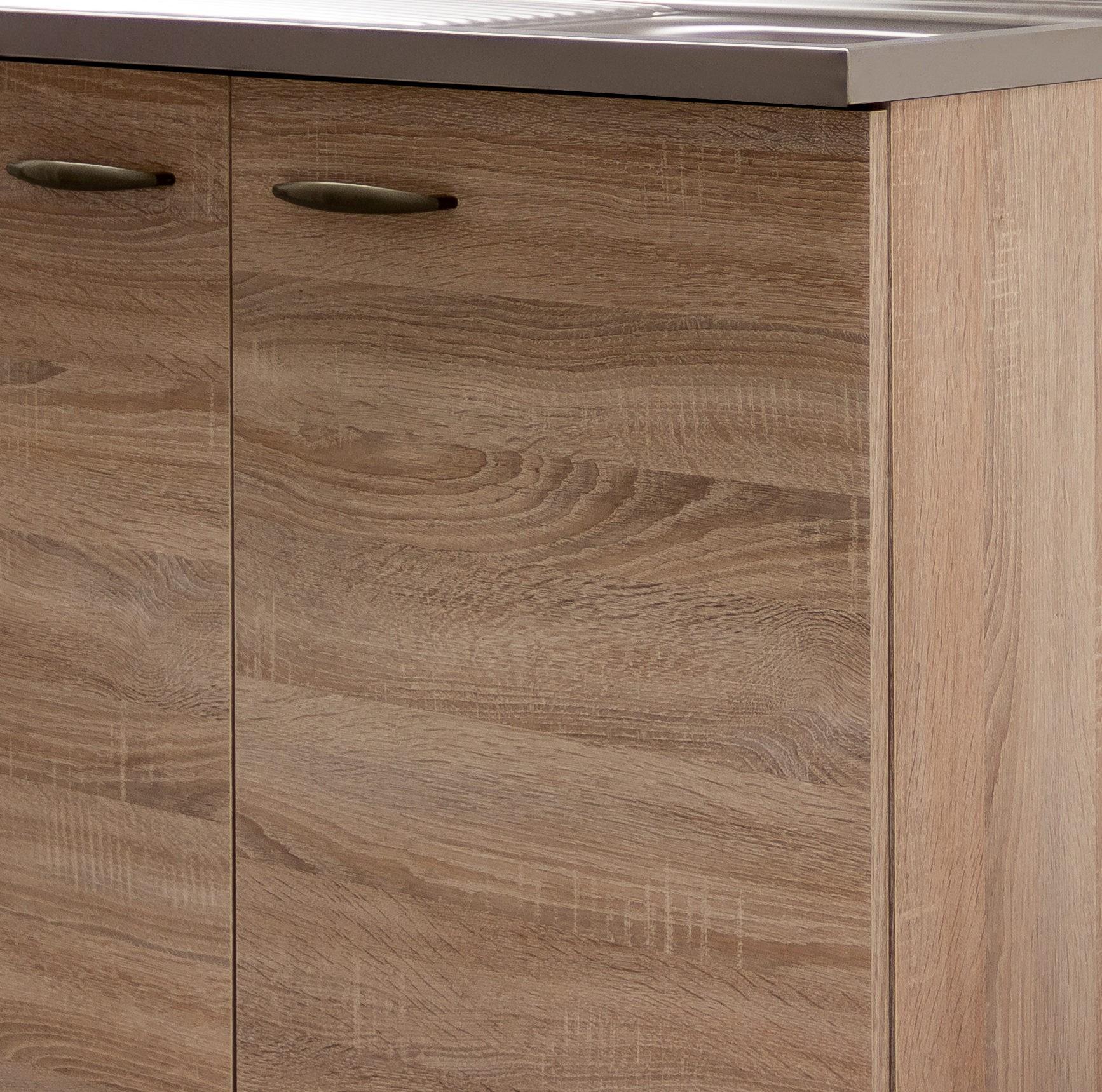 sp lenschrank herne k che sp le sp lschrank 100 cm breit 50 cm tief eiche sonoma ebay. Black Bedroom Furniture Sets. Home Design Ideas
