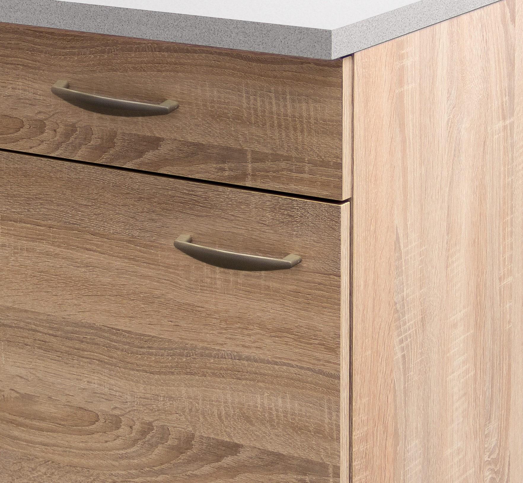 k chenschrank herne k chen unterschrank 1 t r 1 schubkasten 50x50cm eiche sonoma ebay. Black Bedroom Furniture Sets. Home Design Ideas