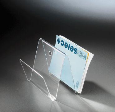 Zeitungsständer NEW YORK in W-Form - Acrylglas
