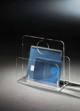 Zeitungsständer NEW YORK mit rundem Tragegriff - Acrylglas
