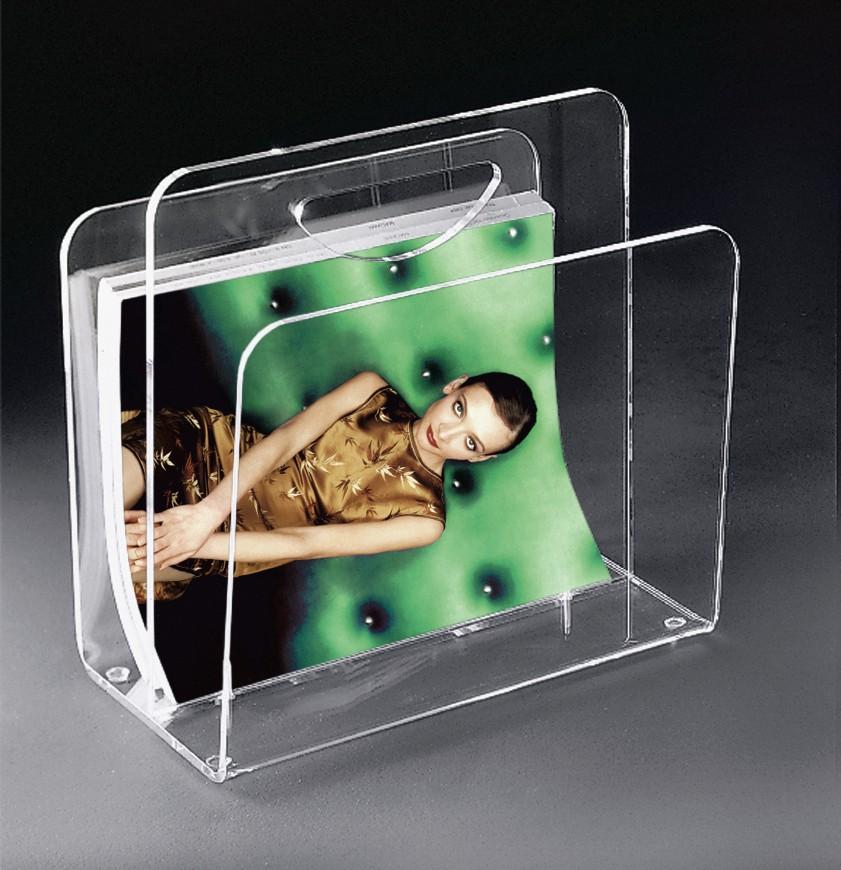 zeitungsst nder new york mit halbrundem tragegriff acrylglas wohnen. Black Bedroom Furniture Sets. Home Design Ideas