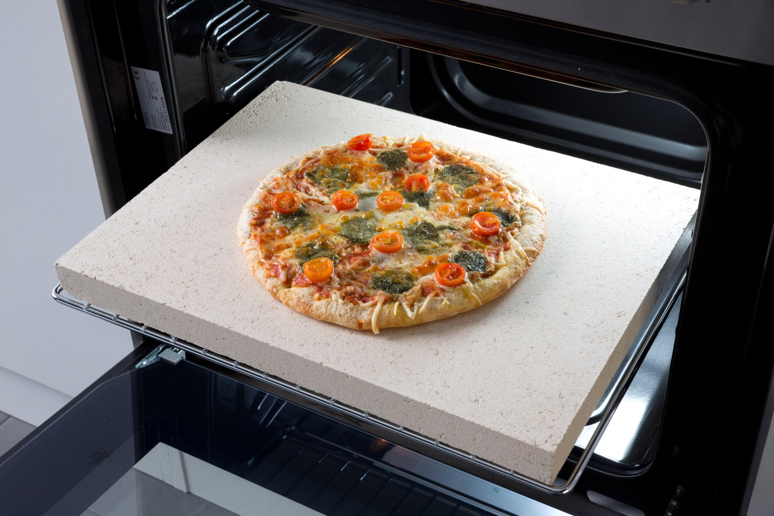 Pizzastein aus Schamottstein, Backofenstein - 40 cm breit Küche