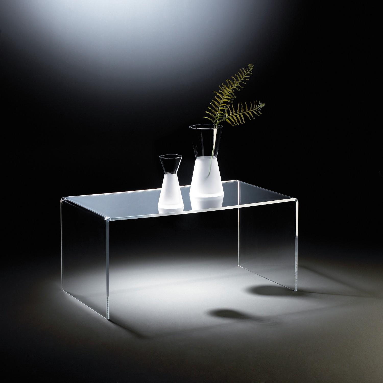 Acrylglas Couchtisch York Sofatisch Wohnzimmertisch Aus Acryl 90 Cm