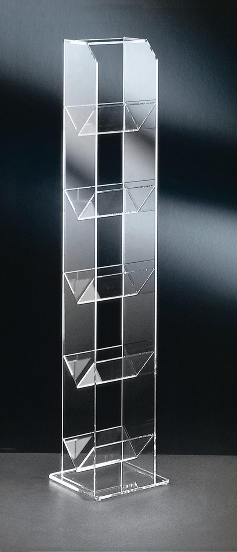 cd und dvd regal new york f r 75 cds acrylglas wohnen regale. Black Bedroom Furniture Sets. Home Design Ideas