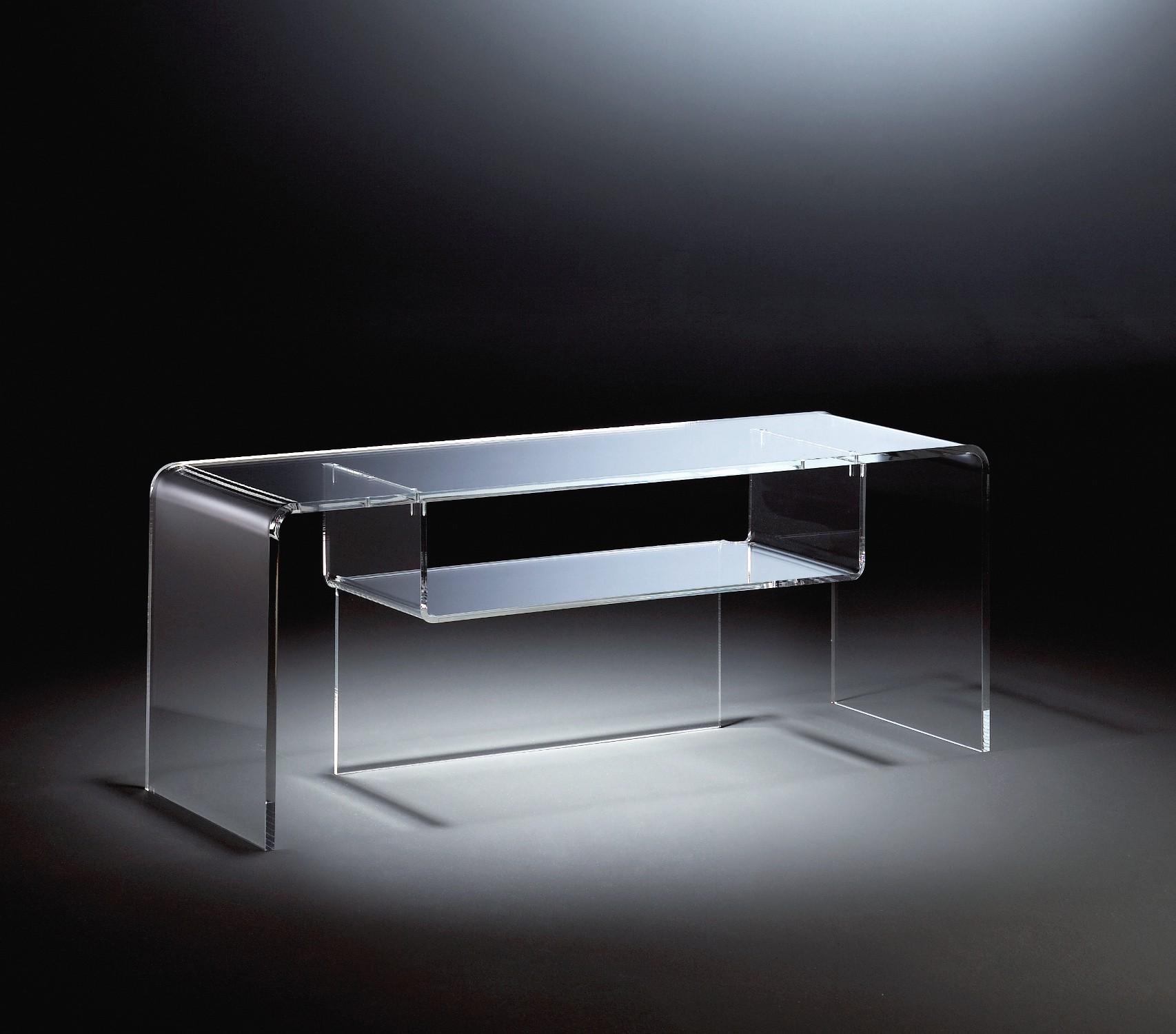 Tv tisch york acrylglas phonotisch phonom bel mit fach 110 for Acrylglas tisch