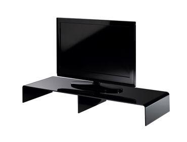 TV-Konsole NEW YORK - Breite 80 cm - Acrylglas Schwarz