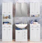 Bad-Waschbeckenunterschrank ARTA - 1-türig, 3 Schubladen - 60 cm breit - Weiß