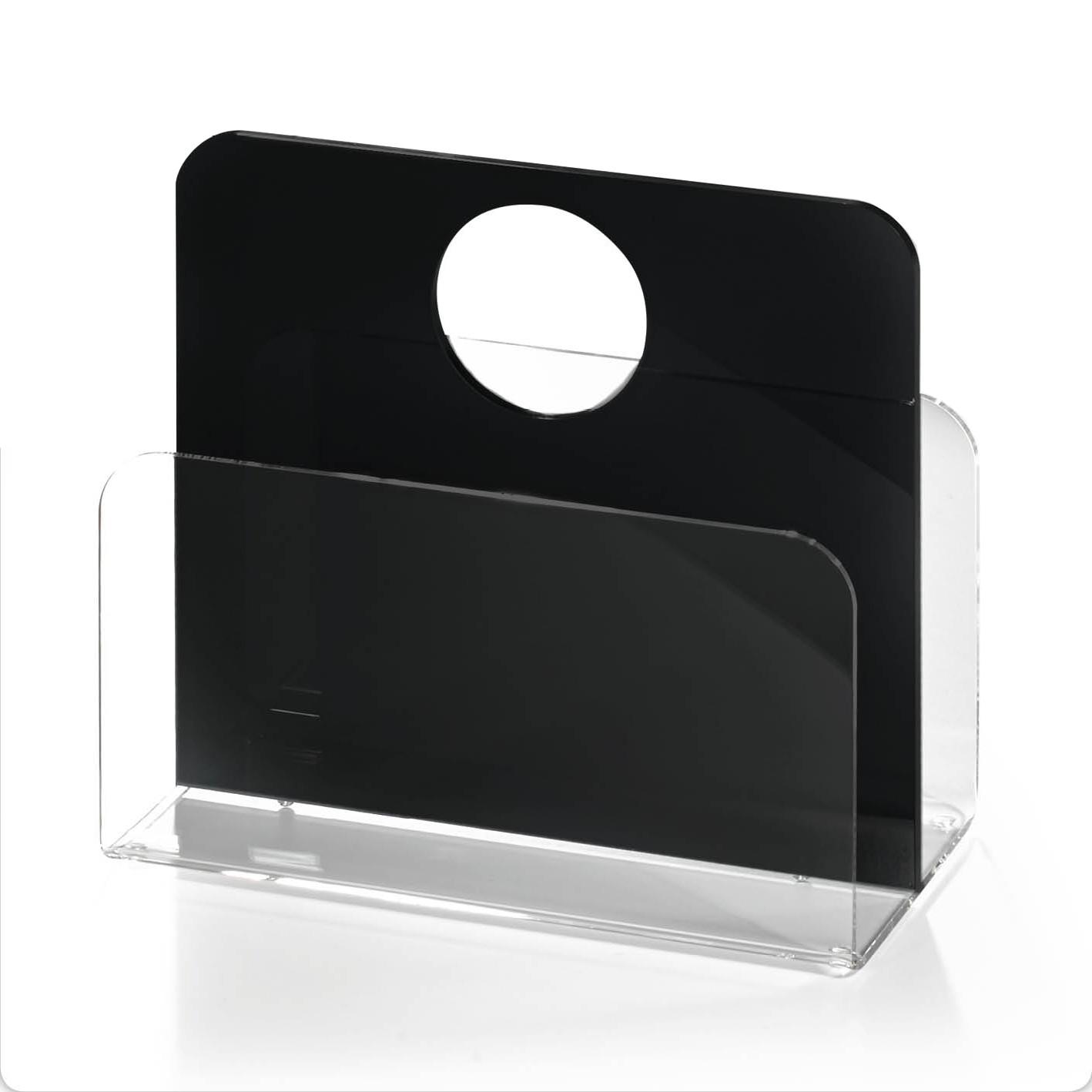 zeitungsst nder las vegas mit rundem tragegriff acrylglas schwarz wohnen. Black Bedroom Furniture Sets. Home Design Ideas