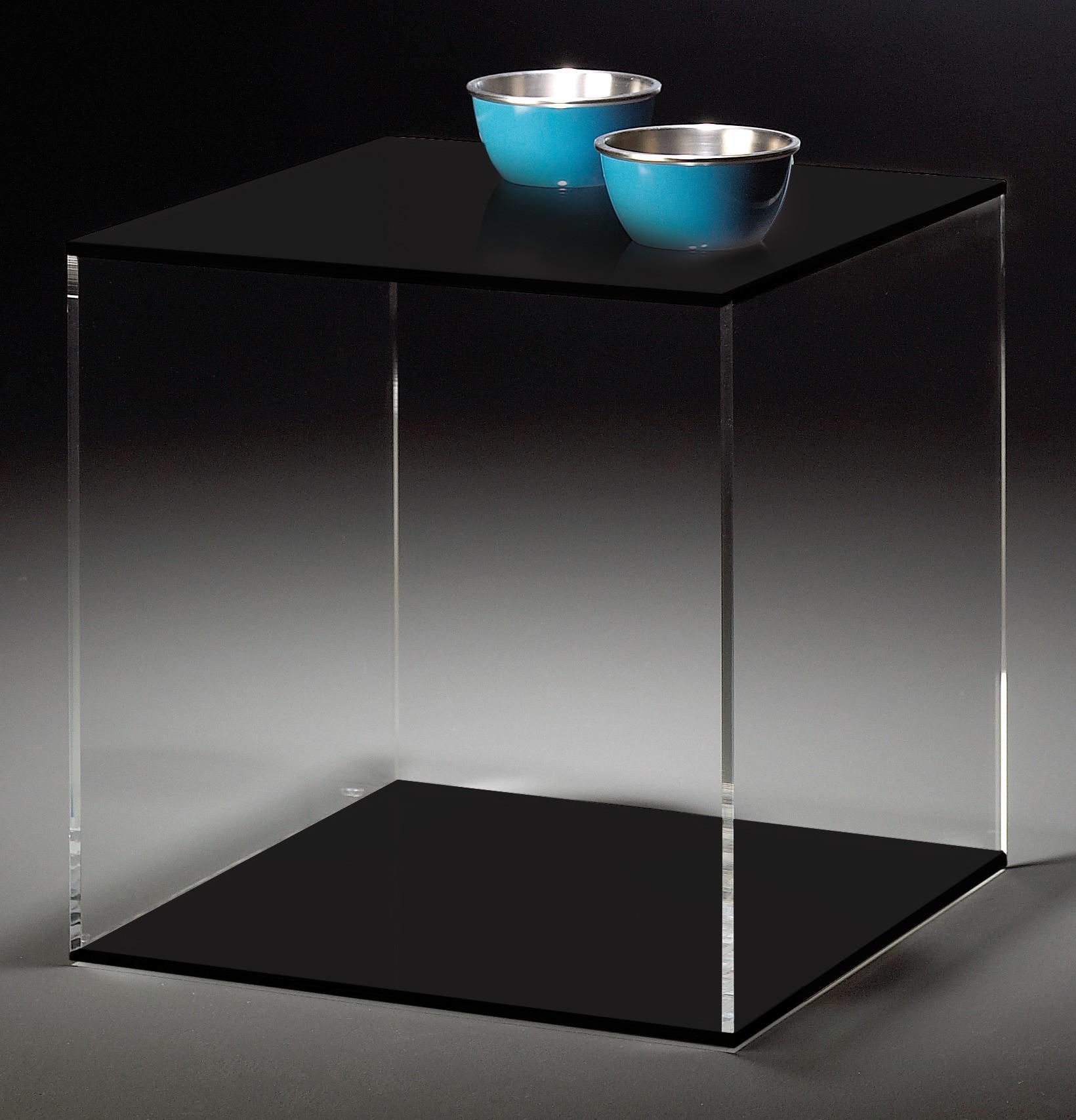 acrylw rfel las vegas 45 cm acrylglas schwarz wohnen beistelltische. Black Bedroom Furniture Sets. Home Design Ideas