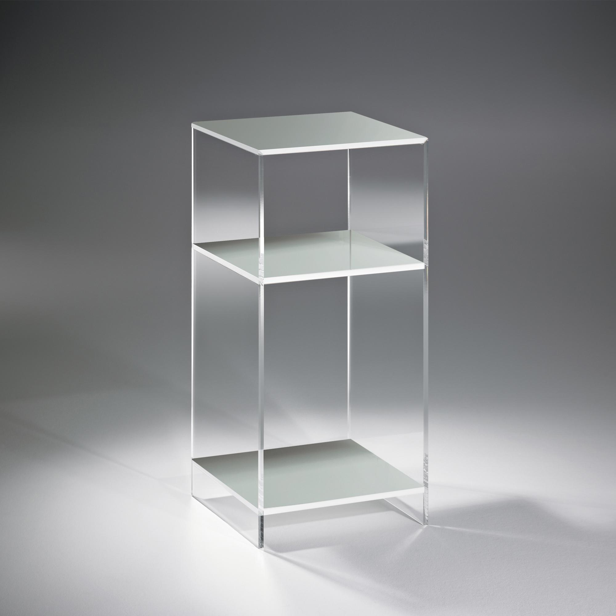 nachttisch las vegas f r boxspringbetten h he 65 cm acrylglas hellgrau wohnen nachttische. Black Bedroom Furniture Sets. Home Design Ideas