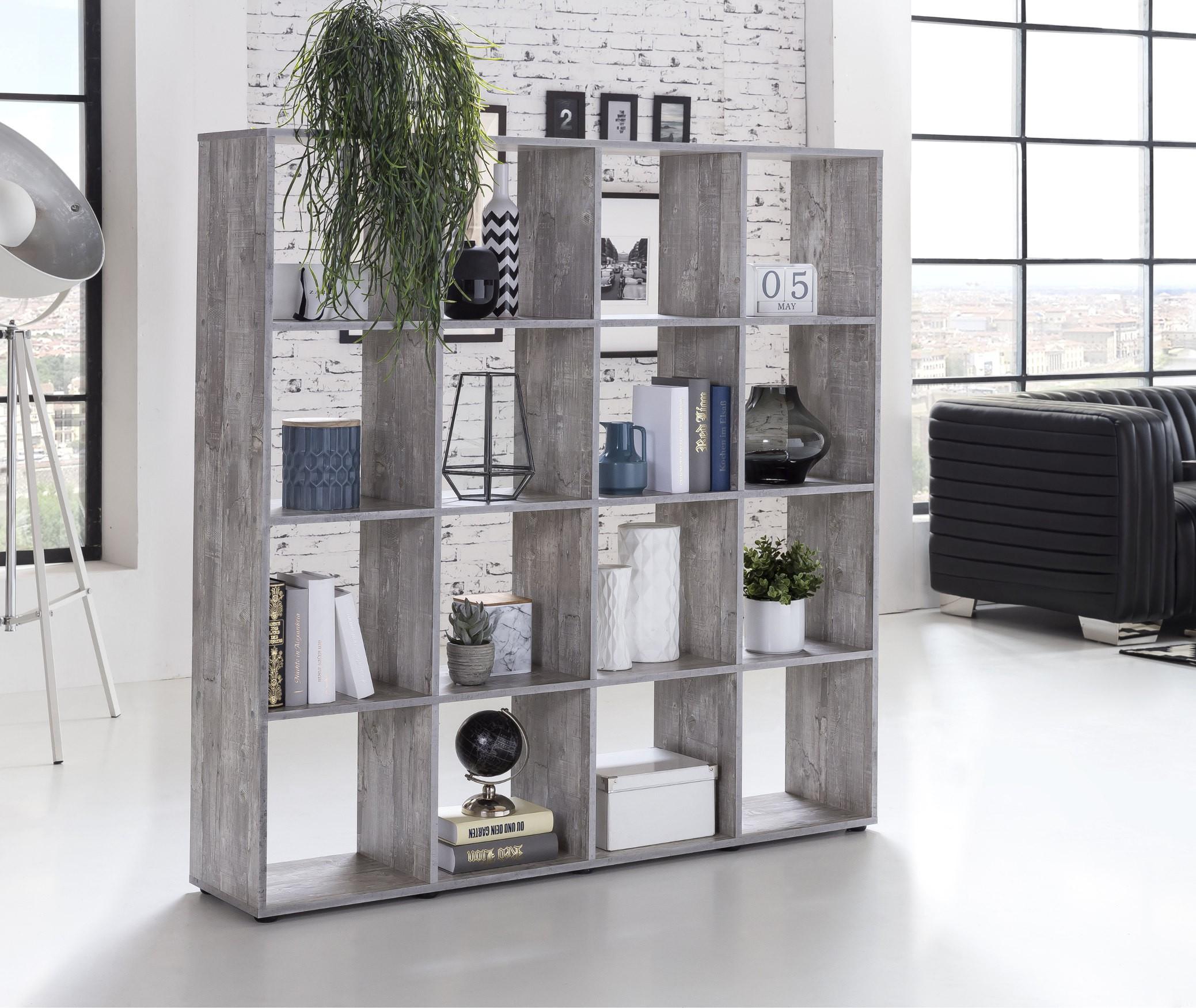 regal maik w rfelsystem 16 f cher beton grau wohnen. Black Bedroom Furniture Sets. Home Design Ideas