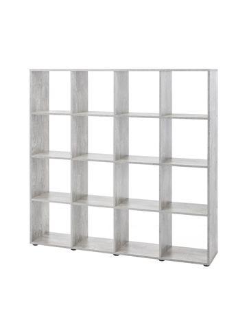 Regal MAIK - Würfelsystem - 16 Fächer - Beton-Grau