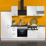 Küchenzeile GRANADA - Vario 6.2 - Küche mit E-Geräten - Breite 270 cm - Weiß