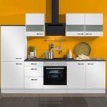 Küchenzeile GRANADA - Vario 7.2 - Küche mit E-Geräten - Breite 270 cm - Weiß