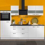 Küchenzeile GRANADA - Vario 11.2 - Küche mit E-Geräten - Breite 270 cm - Weiß