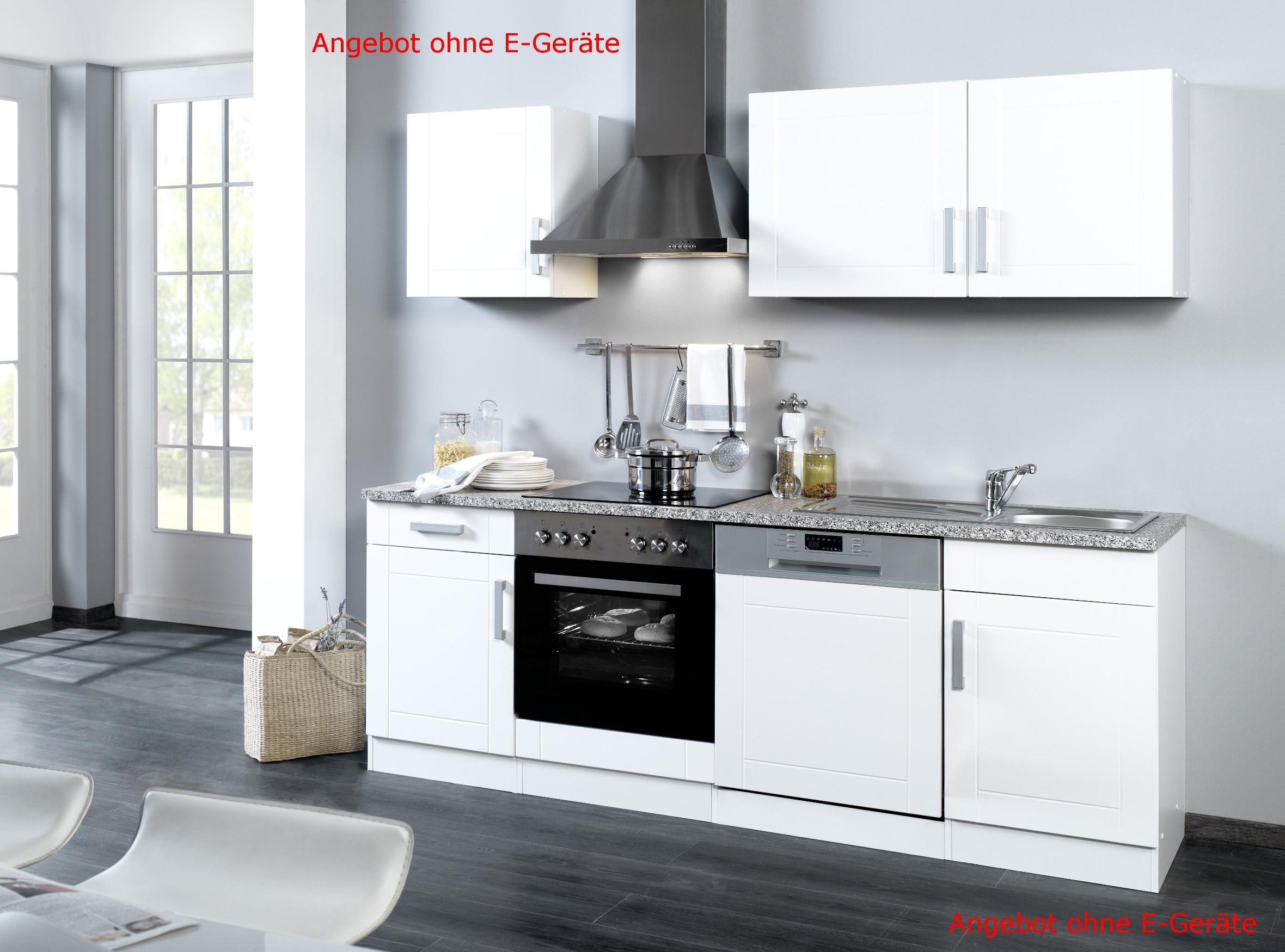 k chenzeile varel k chen leerblock breite 220 cm. Black Bedroom Furniture Sets. Home Design Ideas
